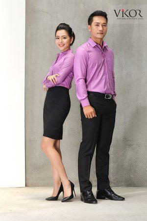 Đồng phục công ty mẫu 019 cho nam nữ