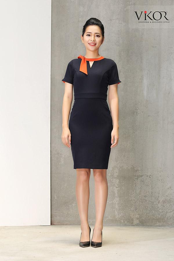 Đồng phục công ty mẫu 022 váy liền