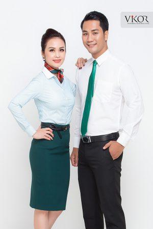 Đồng phục công ty mẫu 023 cho nam nữ