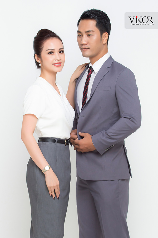 Đồng phục công ty mẫu 026 nam nữ
