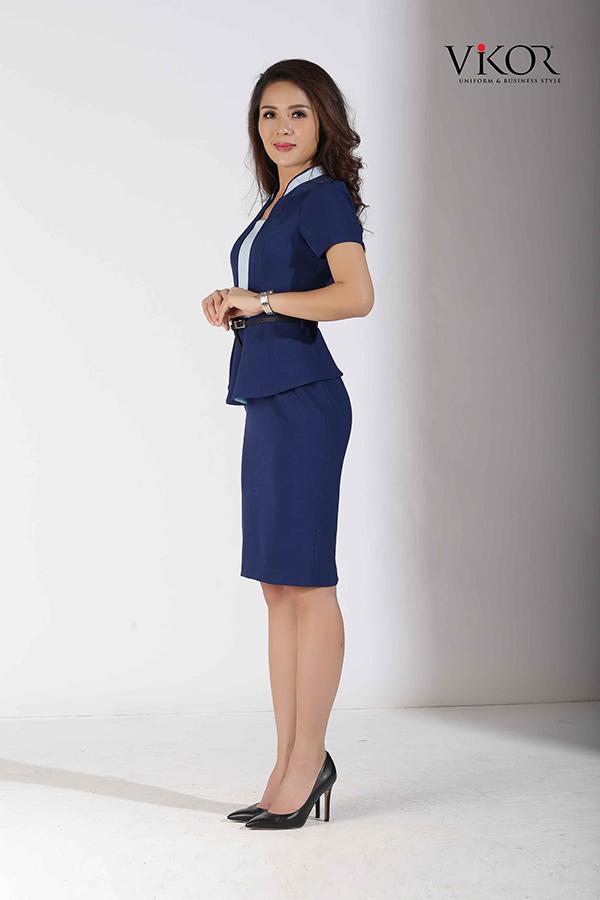Đồng phục công ty mẫu 032 váy liền đẹp