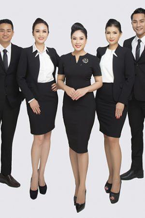 Đồng phục công ty mẫu 033 nam nữ