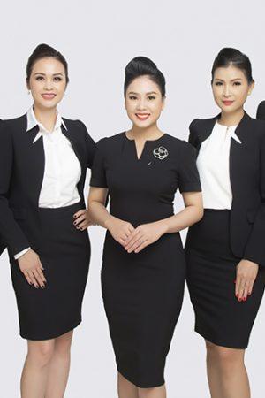 Đồng phục công ty mẫu 033 nam nữ đẹp