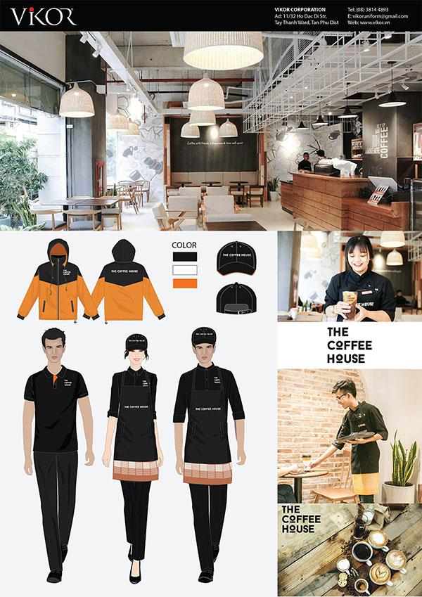 Mẫu đồng phục nhân viên phục vụ The Coffee House