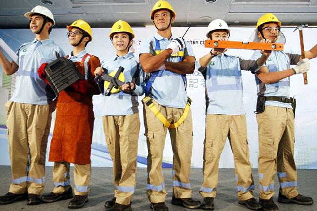 Áo thun đồng phục công nhân xây dựng