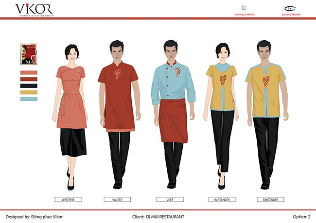 Dự án đồng phục cho Nhà hàng Dì Mai do VIKOR thực hiện