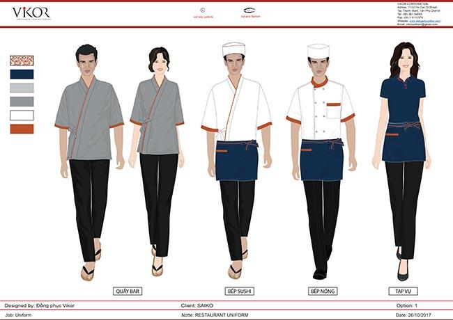 Đồng phục nhà hàng nhà Nhật - SAIKO