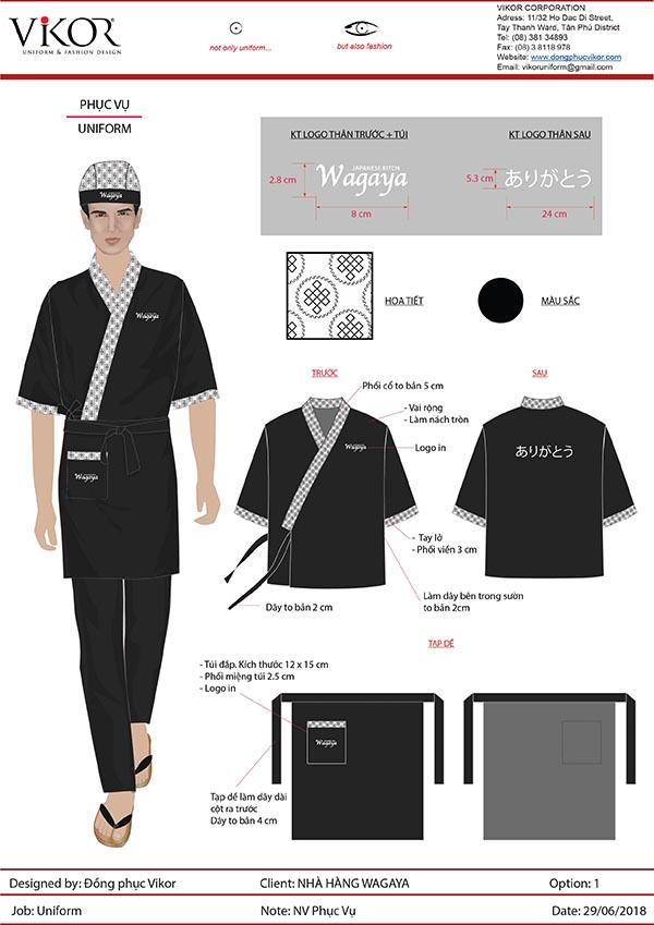 Đồng phục nhà hàng Nhật Wagaya
