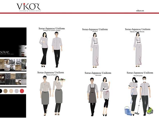 Các thiết kế riêng cho từng vị trí của nhà hàng Sushi Sorae