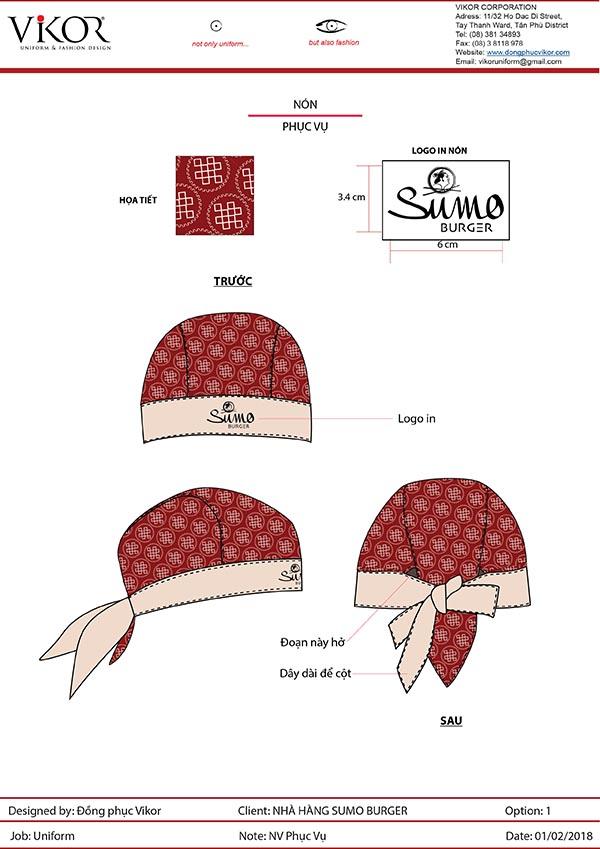 Mũ đi kèm đồng phục nhà hàng Nhật