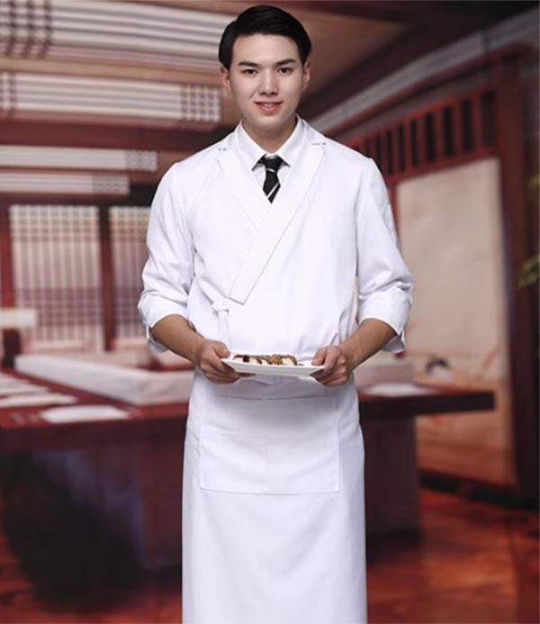 Mẫu đồng phục dành cho đầu bếp nhà hàng Nhật