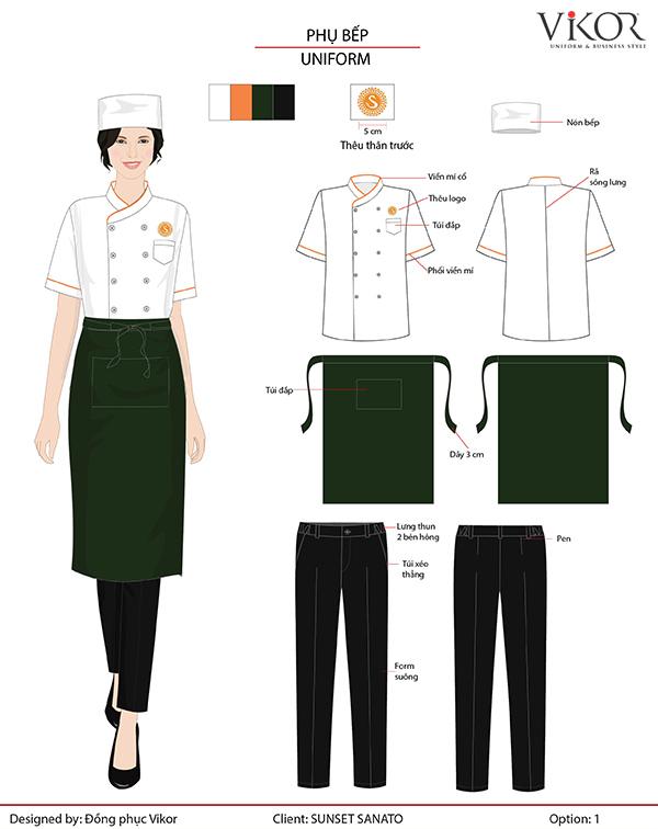 Đồng phục phụ bếp nhà hàng