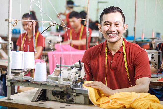 Áo đồng phục công nhân may